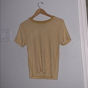 Abercrombie and Finch Yellow/White stripped shirt